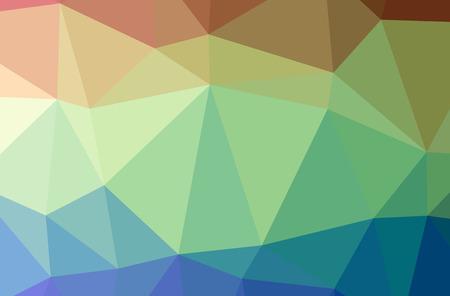 Illustration of green poligon beautiful multicolor background Stok Fotoğraf