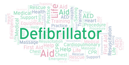 Defibrillator word cloud, made with text only