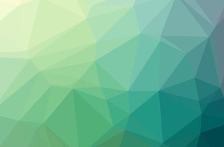 Illustration of green poligon elegant multicolor background