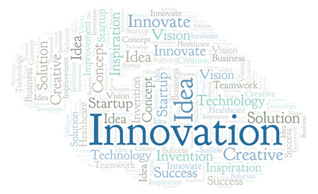 Innovation word cloud, made with text only