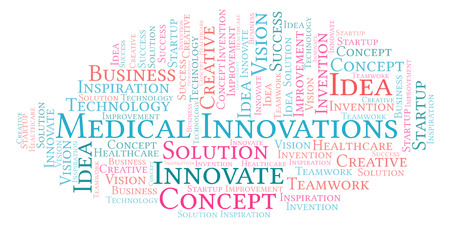 Medical Innovations word cloud, made with text only