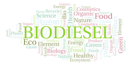 Biodiesel word cloud. Wordcloud made with text only.
