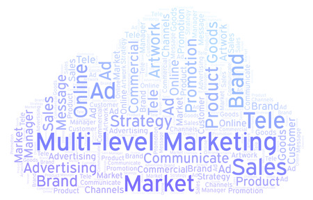 Word cloud with text Multi-level Marketing. Wordcloud made with text only.