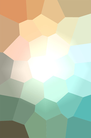 Illustration of green, yellow and red giant hexagon vertical background digitally generated. Stok Fotoğraf