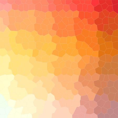 Illustration of orange little hexagon square background digitally generated. Stok Fotoğraf