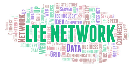 Lte Network word cloud. Word cloud made with text only.