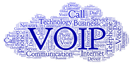 VOIP word cloud. Wordcloud made with text only.
