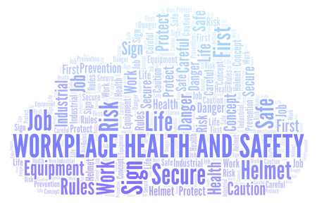 Workplace Health And Safety word cloud. Word cloud made with text only.