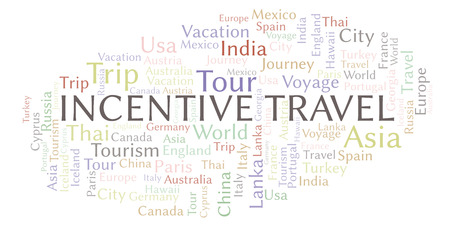 Incentive Travel word cloud. Wordcloud made with text only. Reklamní fotografie