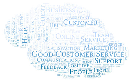 Good Customer Service word cloud. Made with text only.