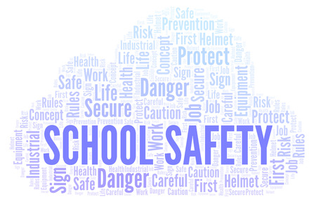 School Safety word cloud. Word cloud made with text only.