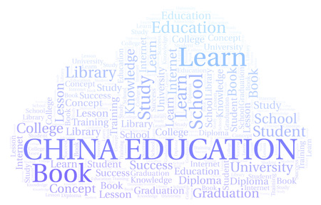 China Education word cloud, wordcloud made with text only.