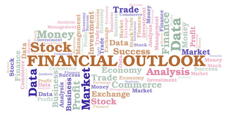 Financial Outlook word cloud, wordcloud made with text only.