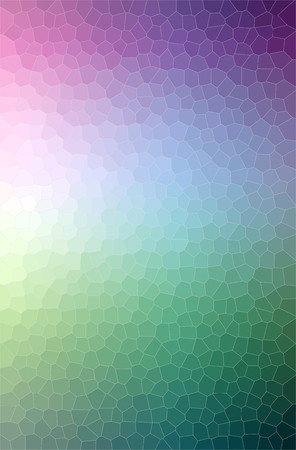 Illustration of green and blue small hexagon vertical background digitally generated. 免版税图像