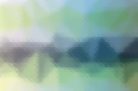 Illustration of green and blue glass blocks horizontal background digitally generated.