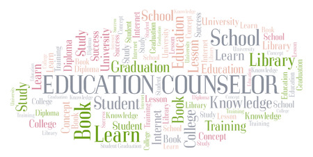 Education Counselor word cloud, wordcloud made with text only.