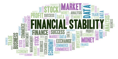 Financial Stability word cloud, wordcloud made with text only.
