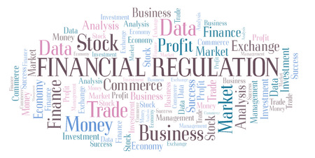 Financial Regulation word cloud, wordcloud made with text only.