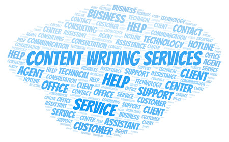Content Writing Services word cloud. Wordcloud made with text only.