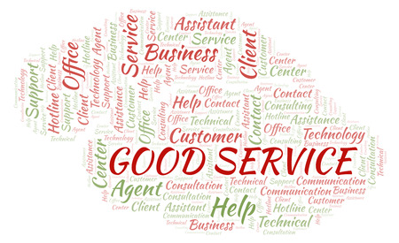 Good Service word cloud. Wordcloud made with text only.