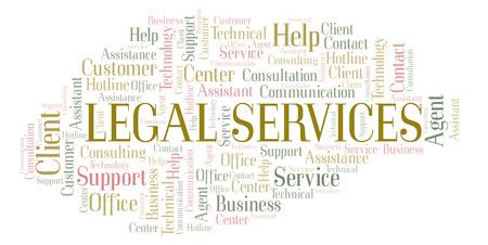Legal Services word cloud. Wordcloud made with text only.