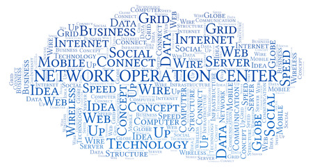 Network Operation Center word cloud. Word cloud made with text only. 写真素材
