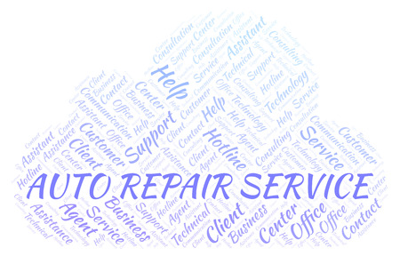 Auto Repair Service word cloud. Wordcloud made with text only.