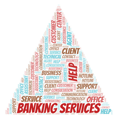 Banking Services word cloud. Wordcloud made with text only.
