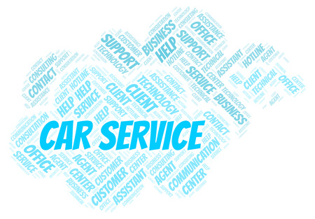 Car Service word cloud. Wordcloud made with text only.