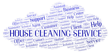 House Cleaning Service word cloud. Wordcloud made with text only. Imagens