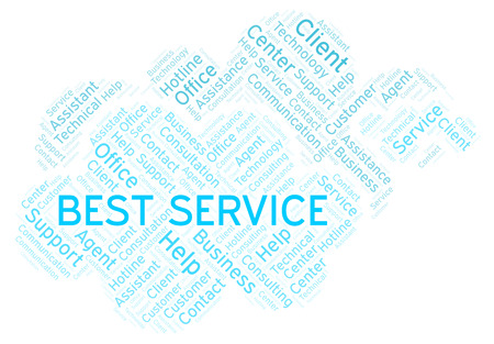 Best Service word cloud. Wordcloud made with text only.