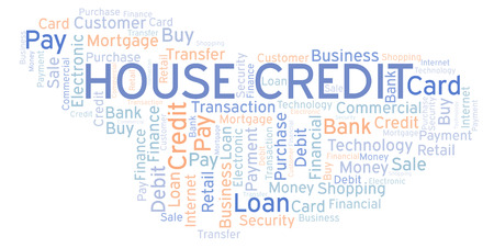 House Credit word cloud. Wordcloud made with text only. Imagens