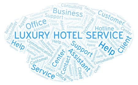 Luxury Hotel Service word cloud. Wordcloud made with text only.