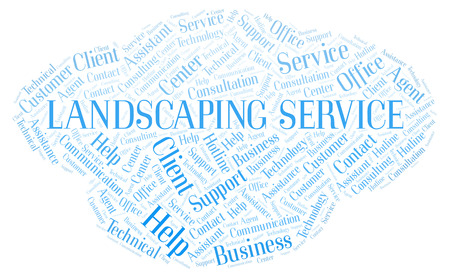 Landscaping Service word cloud. Wordcloud made with text only.