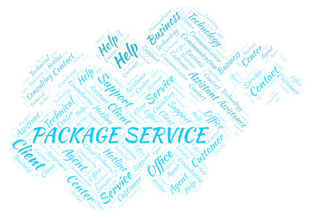 Package Service word cloud. Wordcloud made with text only.