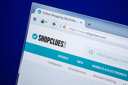 Ryazan, Russia - July 24, 2018: Homepage of ShopClues website on the display of PC. Url - ShopClues.com