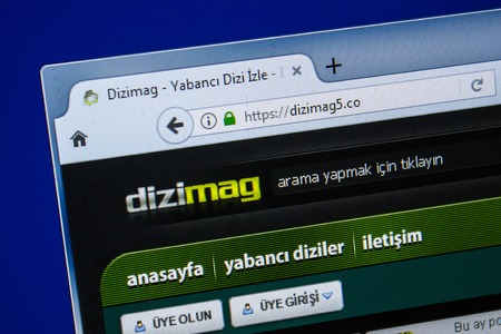 Ryazan, Russia - July 25, 2018: Homepage of DiziMag5 website on the display of PC. Url - DiziMag5.co