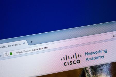 Ryazan, Russia - July 25, 2018: Homepage of NetAcad website on the display of PC. Url - NetAcad.com