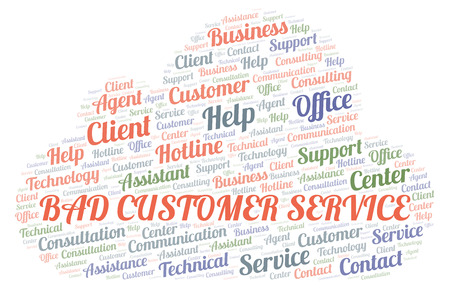 Bad Customer Service word cloud. Wordcloud made with text only.