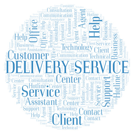 Delivery Service word cloud. Wordcloud made with text only. Reklamní fotografie