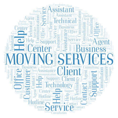 Moving Services word cloud. Wordcloud made with text only.