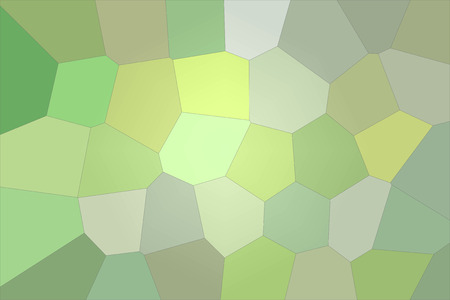 Abstract illustration of silver and green bright Giant Hexagon background, digitally generated