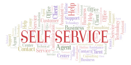 Self Service word cloud. Wordcloud made with text only.