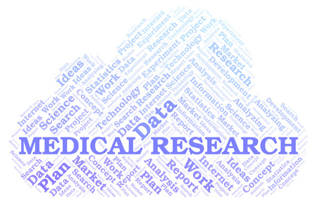 Medical Research word cloud. Wordcloud made with text only.