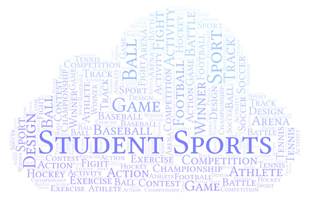Student Sports word cloud. Made with text only.