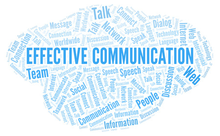 Effective Communication word cloud. Wordcloud made with text only.