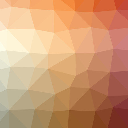 Illustration of abstract low poly orange and brown square background