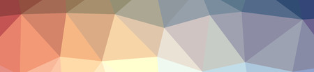 Illustration of abstract low poly orange, red, yellow and blue banner background Stock Photo