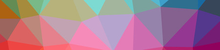 Illustration of abstract low poly purple and green banner background