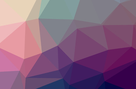 Illustration of abstract low poly purple, magenta, yellow and green horizontal background